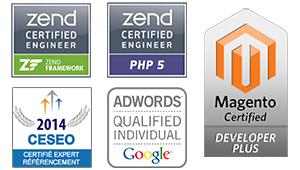 certifications e-commerce Magento, Zend, référencement CESEO, Google Adwords